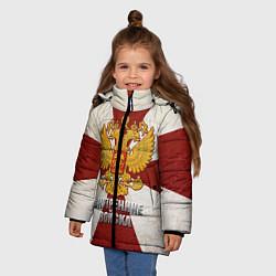Детская зимняя куртка для девочки с принтом Внутренние войска, цвет: 3D-черный, артикул: 10080334706065 — фото 2
