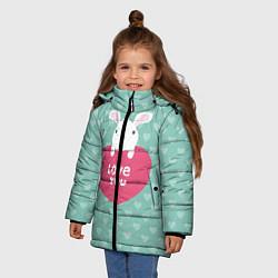 Куртка зимняя для девочки Rabbit: Love you цвета 3D-черный — фото 2