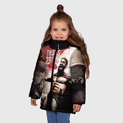 Куртка зимняя для девочки Это 23 февраля цвета 3D-черный — фото 2