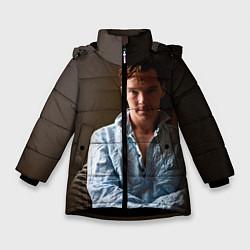 Куртка зимняя для девочки Бенедикт Камбербэтч цвета 3D-черный — фото 1