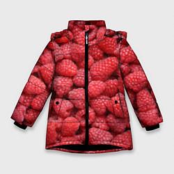 Куртка зимняя для девочки Малиновый мотив цвета 3D-черный — фото 1