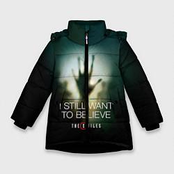 Куртка зимняя для девочки X-files: Alien hand цвета 3D-черный — фото 1