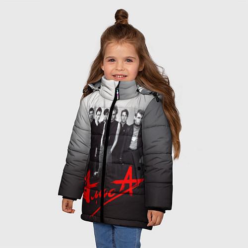 Зимняя куртка для девочки АлисА: Трасса E95 / 3D-Черный – фото 3