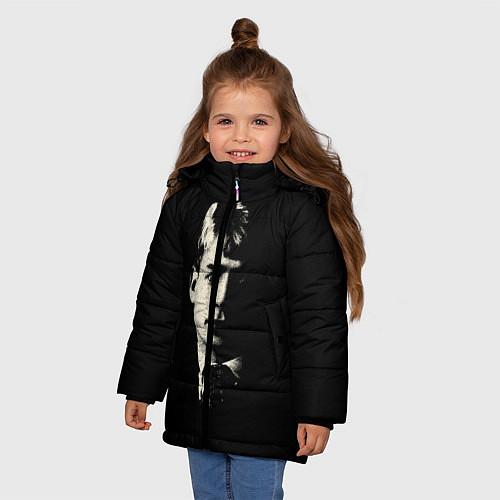 Зимняя куртка для девочки Есенин Ч/Б / 3D-Черный – фото 3