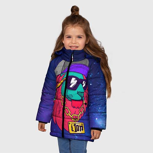 Зимняя куртка для девочки Лев SWAG / 3D-Черный – фото 3