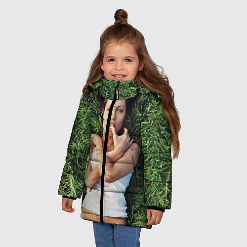 Зимняя куртка для девочки Анджелина Джоли / 3D-Черный – фото 3