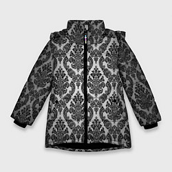 Куртка зимняя для девочки Гламурный узор цвета 3D-черный — фото 1