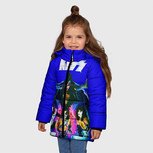 Зимняя куртка для девочки Kiss Show / 3D-Черный – фото 3
