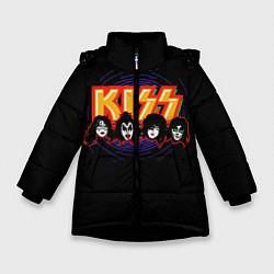 Зимняя куртка для девочки KISS: Death Faces