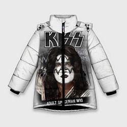 Куртка зимняя для девочки KISS: Adult spaceman wig цвета 3D-черный — фото 1