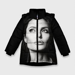 Куртка зимняя для девочки Mono Jolie цвета 3D-черный — фото 1