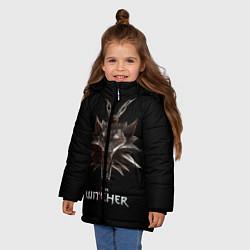 Детская зимняя куртка для девочки с принтом The Witcher, цвет: 3D-черный, артикул: 10084813706065 — фото 2