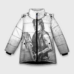 Куртка зимняя для девочки Дэрил цвета 3D-черный — фото 1