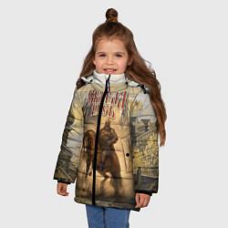 Куртка зимняя для девочки Святая русь цвета 3D-черный — фото 2