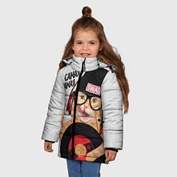 Детская зимняя куртка для девочки с принтом Самая Самая, цвет: 3D-черный, артикул: 10086177206065 — фото 2