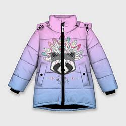 Куртка зимняя для девочки Raccoon: Free Spirit цвета 3D-черный — фото 1