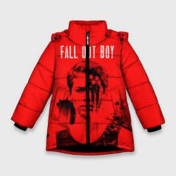 Куртка зимняя для девочки FOB: Red USA цвета 3D-черный — фото 1