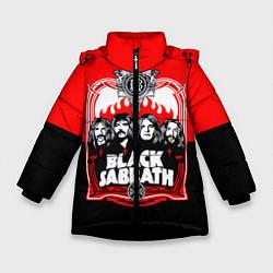 Детская зимняя куртка для девочки с принтом Black Sabbath: Red Sun, цвет: 3D-черный, артикул: 10087840106065 — фото 1