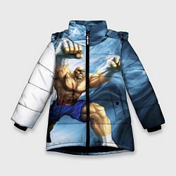 Куртка зимняя для девочки Muay Thai Rage цвета 3D-черный — фото 1