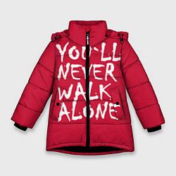 Куртка зимняя для девочки You'll never walk alone цвета 3D-черный — фото 1