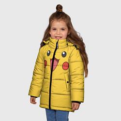 Куртка зимняя для девочки Пикачу цвета 3D-черный — фото 2