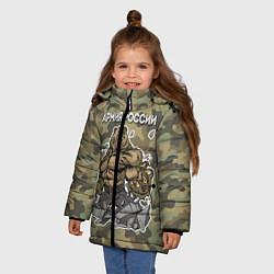 Куртка зимняя для девочки Армия России: ярость медведя цвета 3D-черный — фото 2