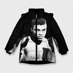 Куртка зимняя для девочки Muhammad Ali цвета 3D-черный — фото 1