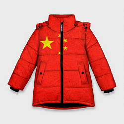 Куртка зимняя для девочки Китай цвета 3D-черный — фото 1