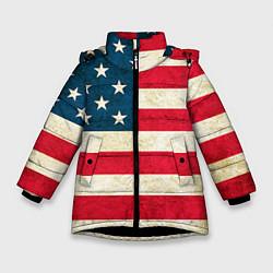 Куртка зимняя для девочки США цвета 3D-черный — фото 1