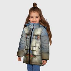 Куртка зимняя для девочки Pink Floyd The division bell цвета 3D-черный — фото 2