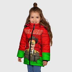 Куртка зимняя для девочки Belarus: Lukashenko цвета 3D-черный — фото 2