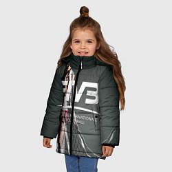 Куртка зимняя для девочки Волейбол 80 цвета 3D-черный — фото 2