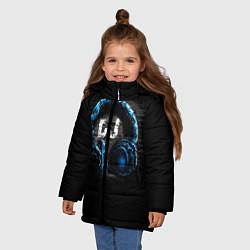 Куртка зимняя для девочки DJ цвета 3D-черный — фото 2