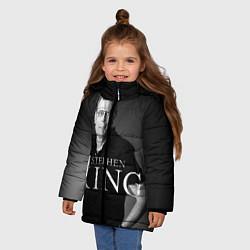 Детская зимняя куртка для девочки с принтом Стивен Кинг, цвет: 3D-черный, артикул: 10095786506065 — фото 2
