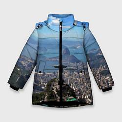 Куртка зимняя для девочки Рио-де-Жанейро цвета 3D-черный — фото 1