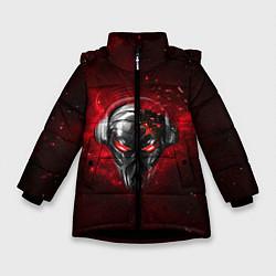 Куртка зимняя для девочки Pirate Station: Blood Face цвета 3D-черный — фото 1