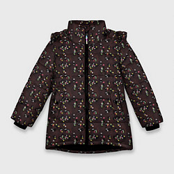 Куртка зимняя для девочки Унесённые призраками цвета 3D-черный — фото 1