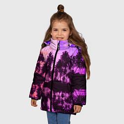 Куртка зимняя для девочки Hawaii dream цвета 3D-черный — фото 2