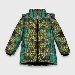 Куртка зимняя для девочки Крокодил цвета 3D-черный — фото 1