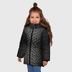 Куртка зимняя для девочки Черная кожа - фото 2