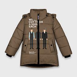 Куртка зимняя для девочки We'll cut them a smile each цвета 3D-черный — фото 1