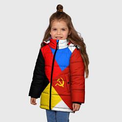 Куртка зимняя для девочки Вечная Россия цвета 3D-черный — фото 2