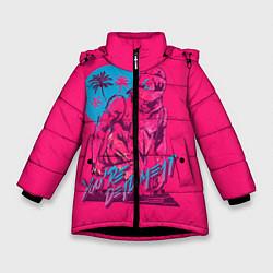 Куртка зимняя для девочки You're dead meat цвета 3D-черный — фото 1