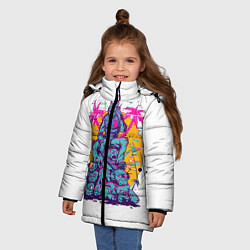 Куртка зимняя для девочки Hotline Miami: Throne цвета 3D-черный — фото 2