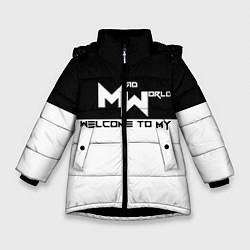 Куртка зимняя для девочки Безумный мир цвета 3D-черный — фото 1