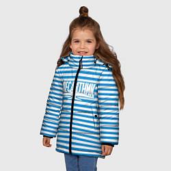 Детская зимняя куртка для девочки с принтом ВДВ. Выше нас только звёзды, цвет: 3D-черный, артикул: 10099544306065 — фото 2