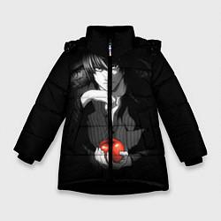 Куртка зимняя для девочки Тетрадь смерти 4 цвета 3D-черный — фото 1