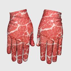 Перчатки Кусок мяса цвета 3D — фото 1