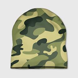 Шапка Камуфляж: зеленый/хаки цвета 3D — фото 1