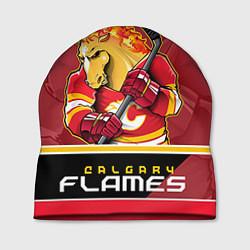 Шапка Calgary Flames цвета 3D-принт — фото 1